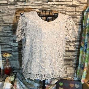 Philosophy gray lace top